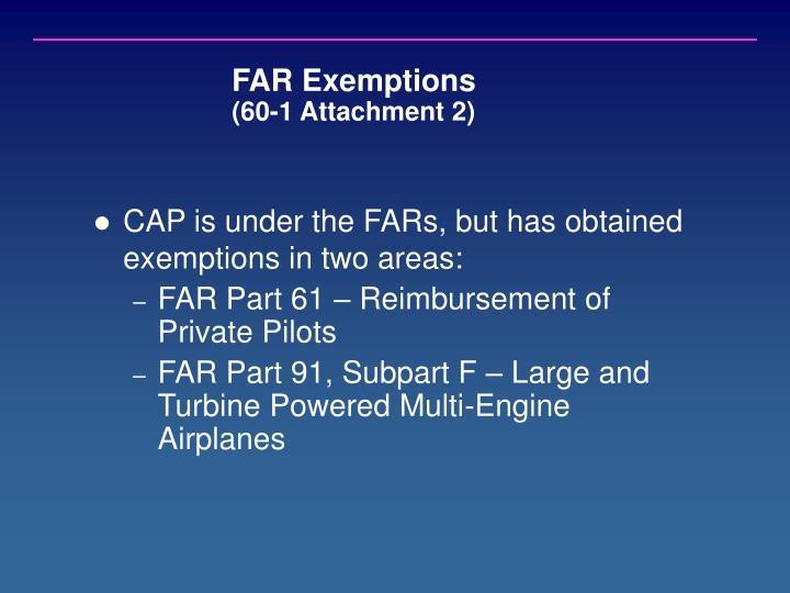 FAR Exemptions