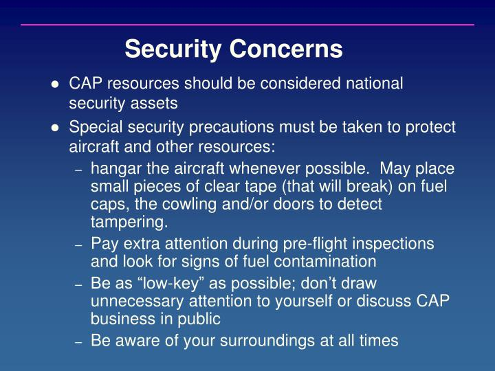 Security Concerns