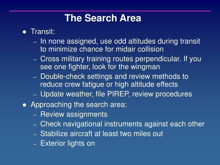 The Search Area