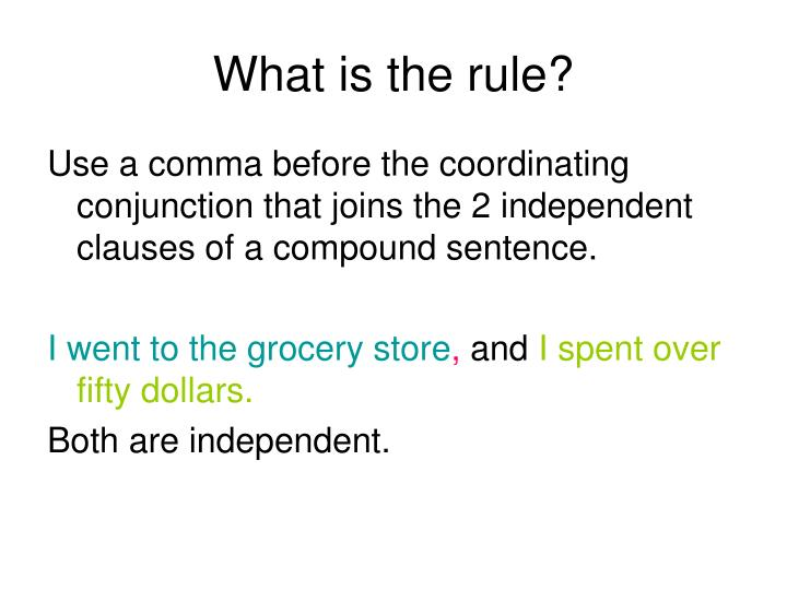 What is the rule?