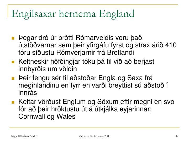 Engilsaxar hernema England