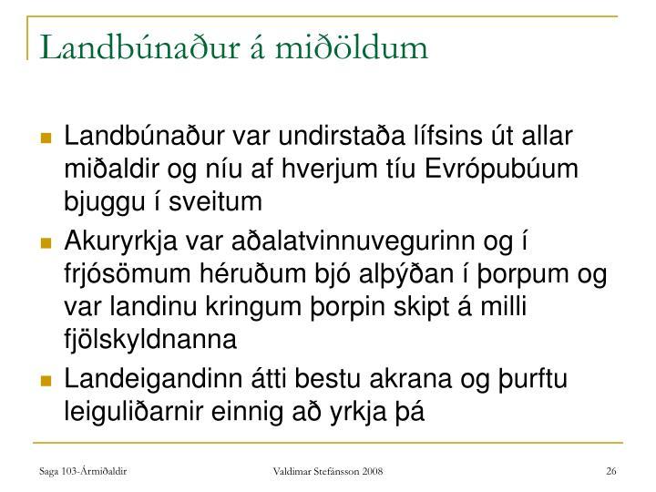 Landbúnaður á miðöldum