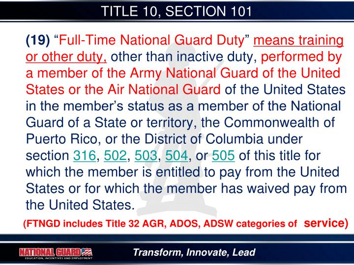 TITLE 10, SECTION 101