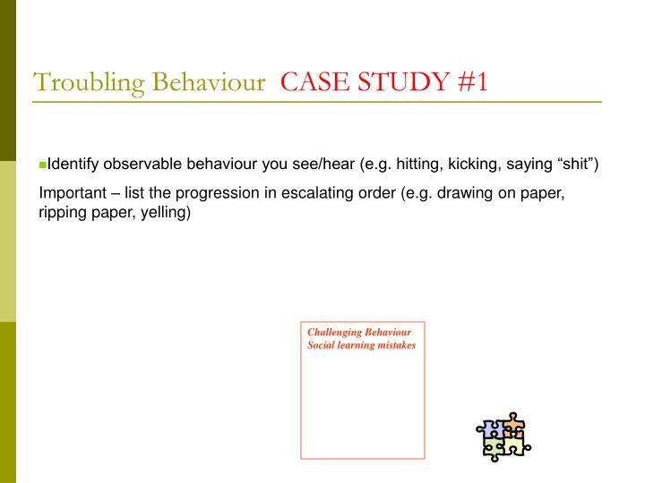 Troubling Behaviour