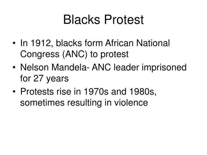 Blacks Protest