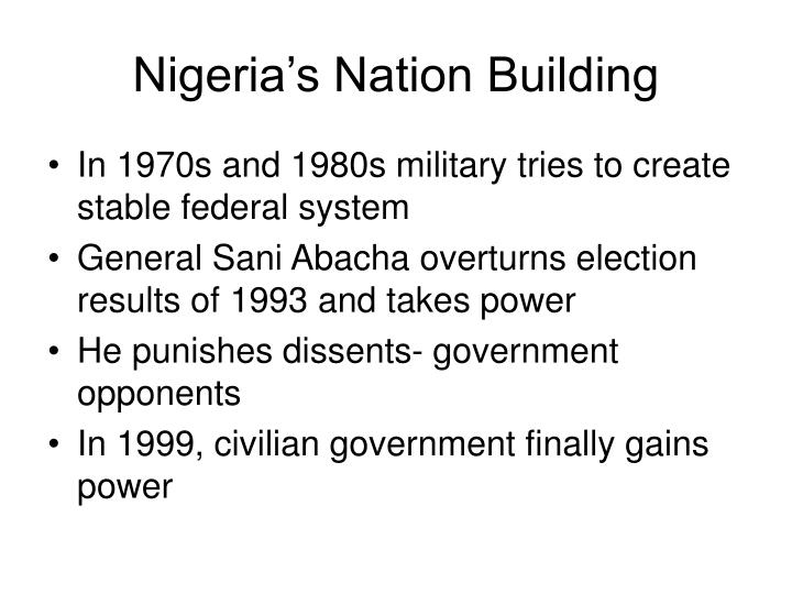 Nigeria's Nation Building