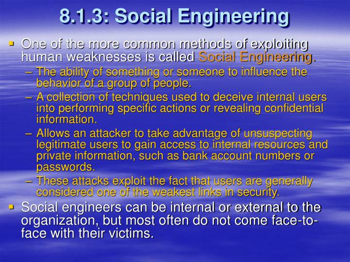 8.1.3: Social Engineering
