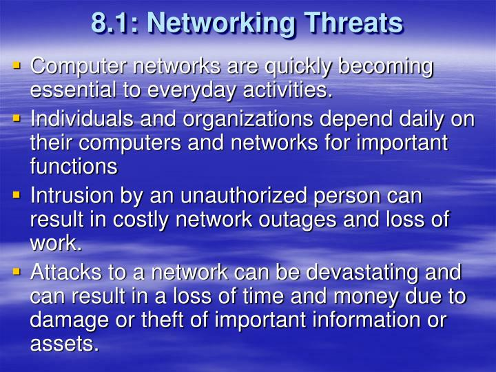 8.1: Networking Threats