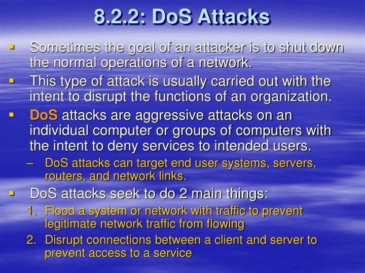 8.2.2: DoS Attacks