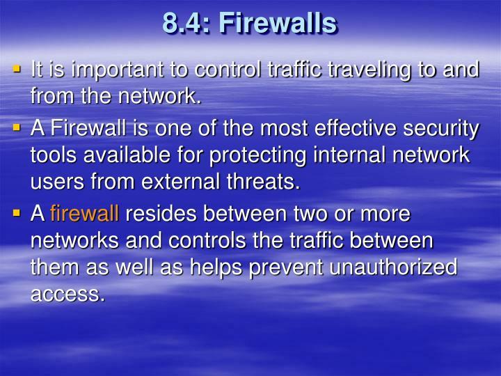 8.4: Firewalls