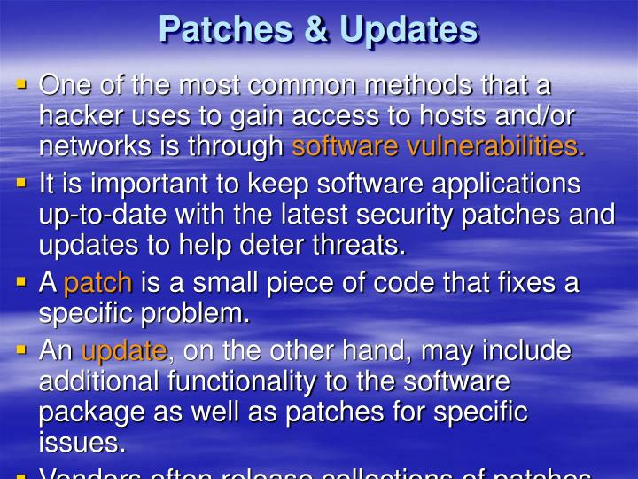 Patches & Updates