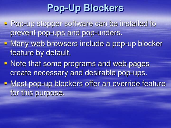 Pop-Up Blockers
