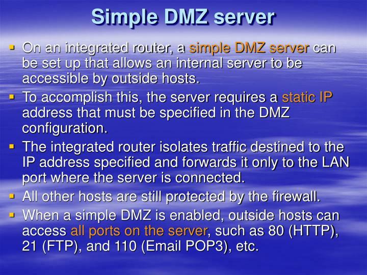 Simple DMZ server
