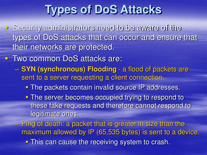 Types of DoS Attacks