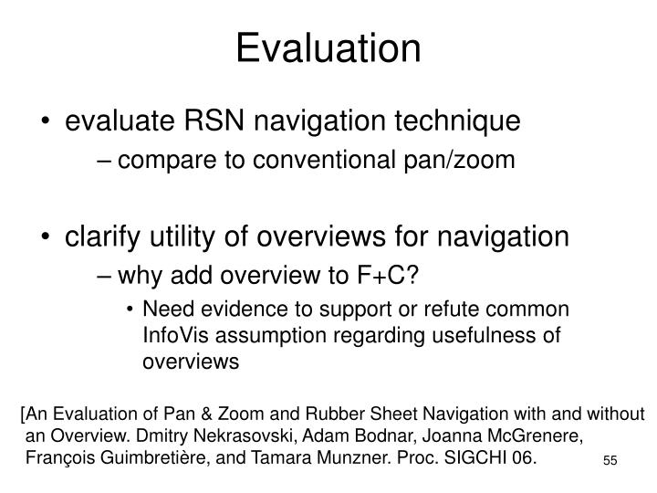 evaluate RSN navigation technique
