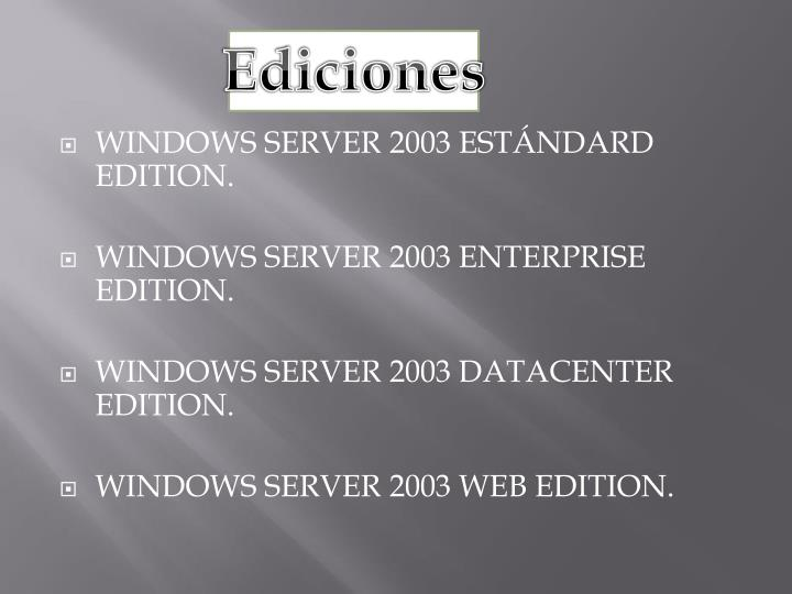 Ediciones