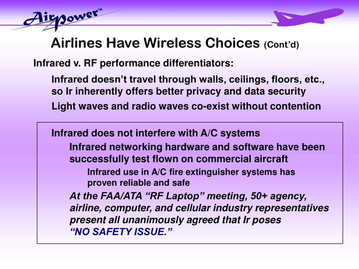 Airlines Have Wireless Choices
