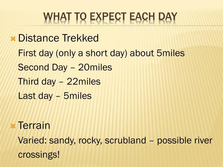 Distance Trekked