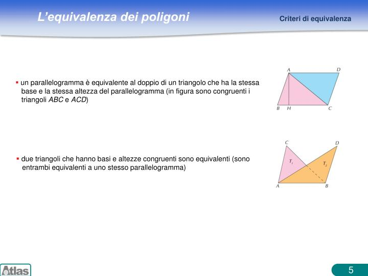 un parallelogramma è equivalente al doppio di un triangolo che ha la stessa