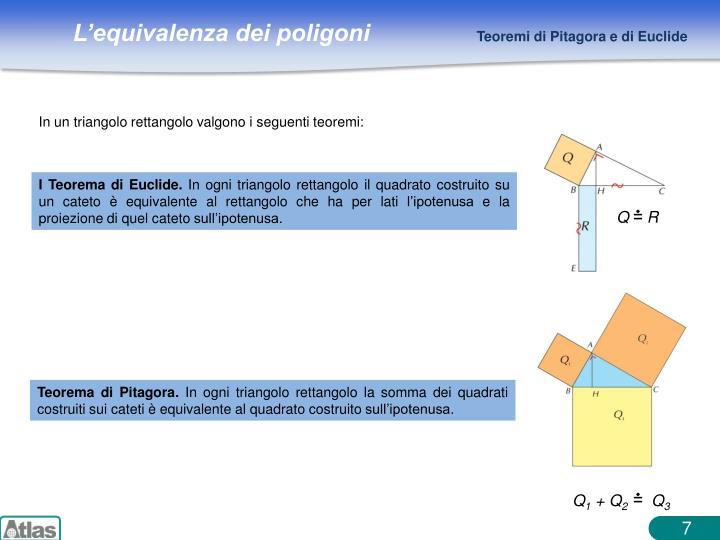 I Teorema di Euclide.