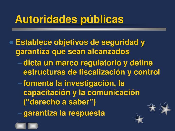 Autoridades públicas