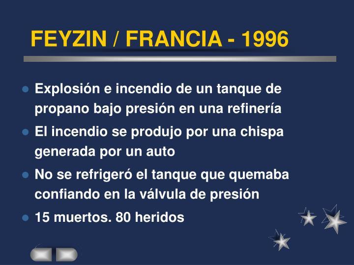 FEYZIN / FRANCIA - 1996