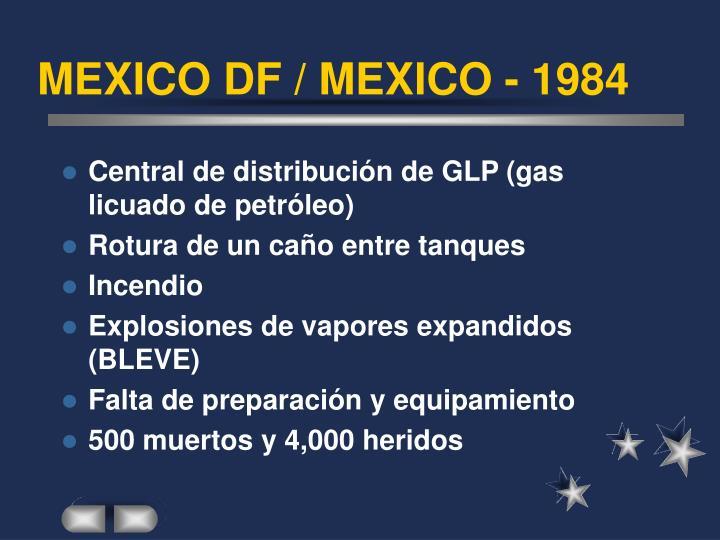 MEXICO DF / MEXICO - 1984
