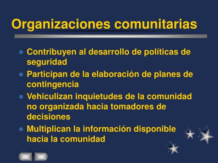 Organizaciones comunitarias