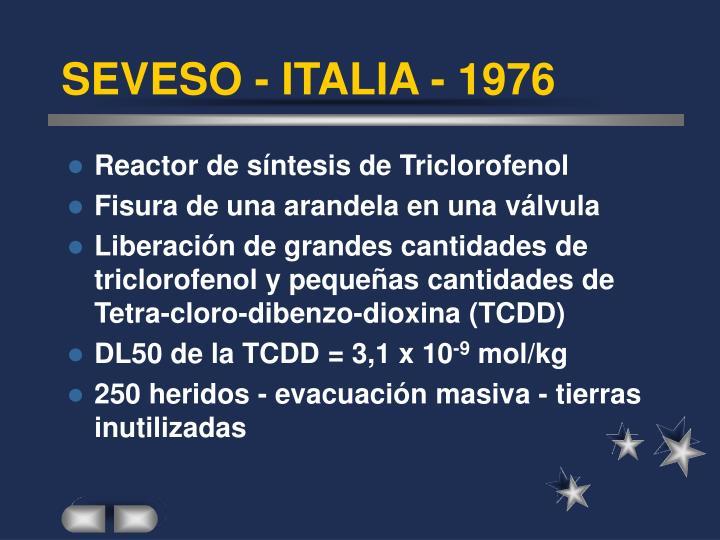 SEVESO - ITALIA - 1976