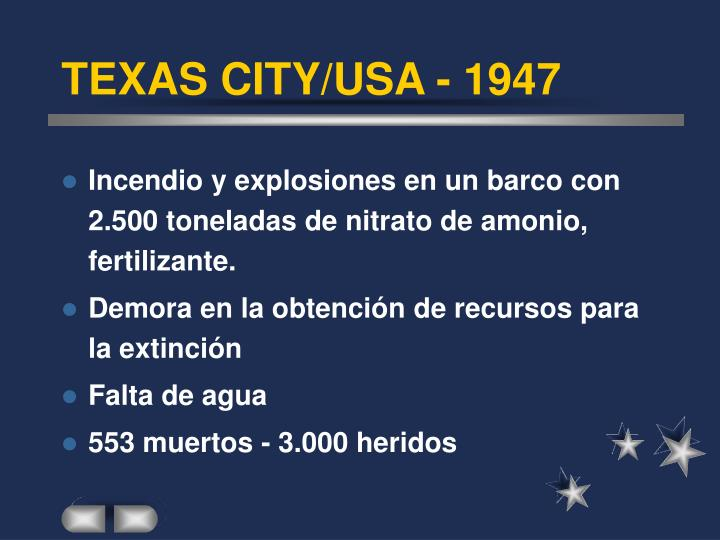 TEXAS CITY/USA - 1947