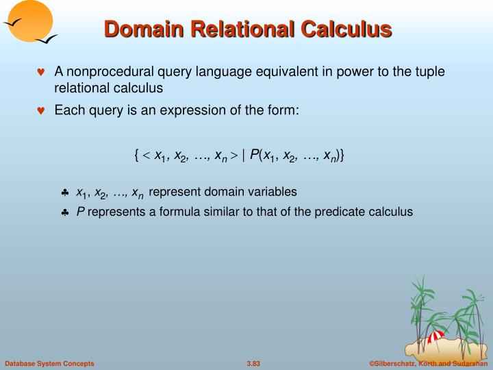 Domain Relational Calculus