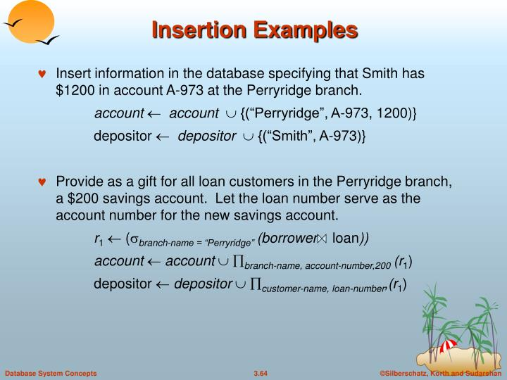 Insertion Examples