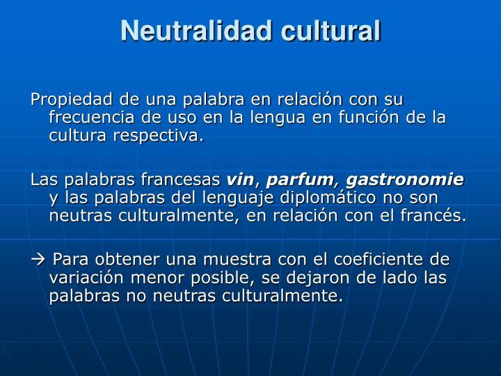 Neutralidad cultural