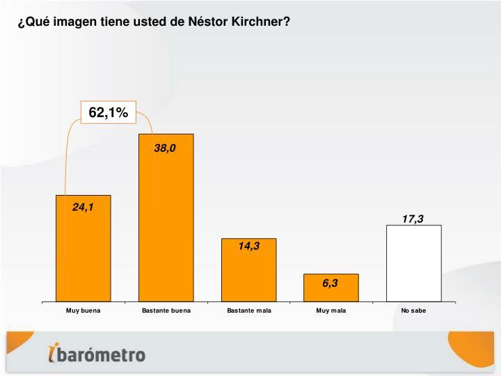¿Qué imagen tiene usted de Néstor Kirchner?