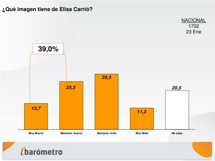 ¿Qué imagen tiene de Elisa Carrió?