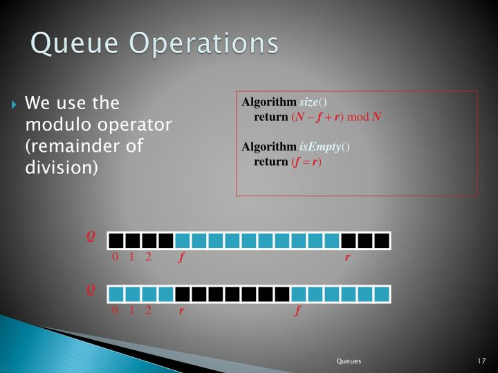 We use the modulo operator (remainder of division)