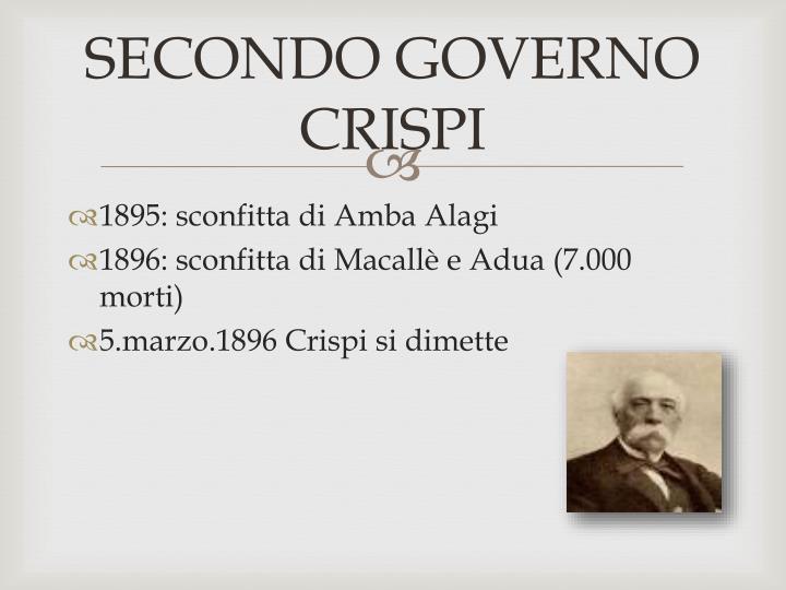 SECONDO GOVERNO CRISPI