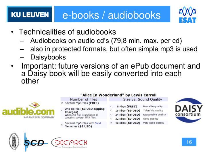 e-books / audiobooks
