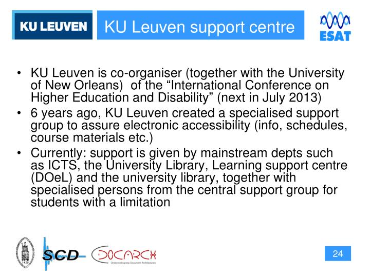 KU Leuven support centre