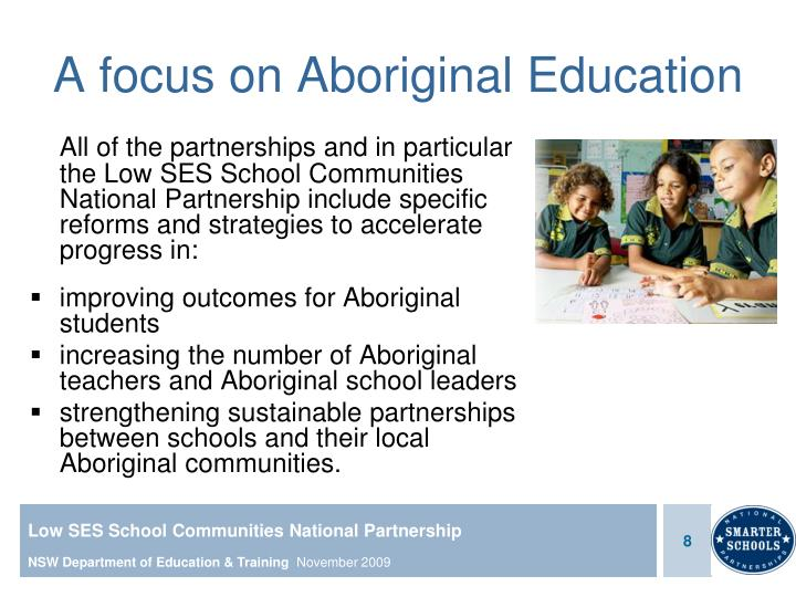 A focus on Aboriginal Education