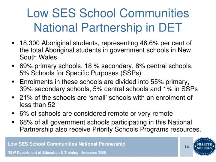 Low SES School Communities National Partnership in DET