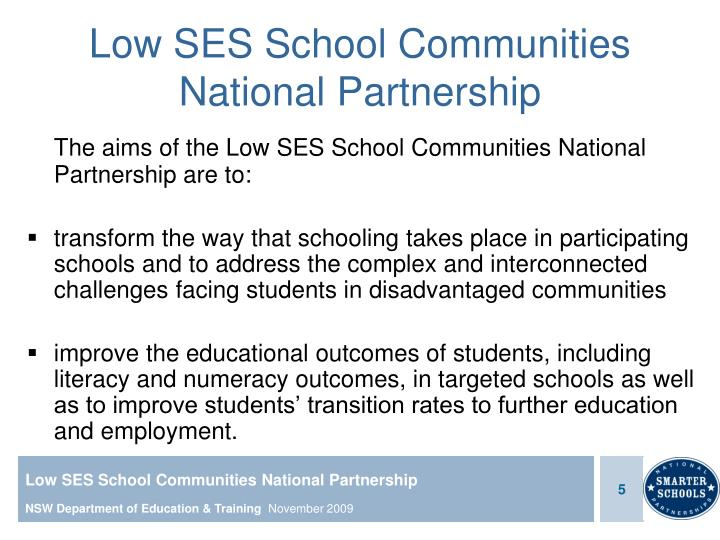 Low SES School Communities National Partnership