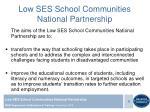 low ses school communities national partnership