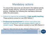 mandatory actions