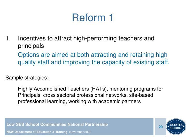 Reform 1