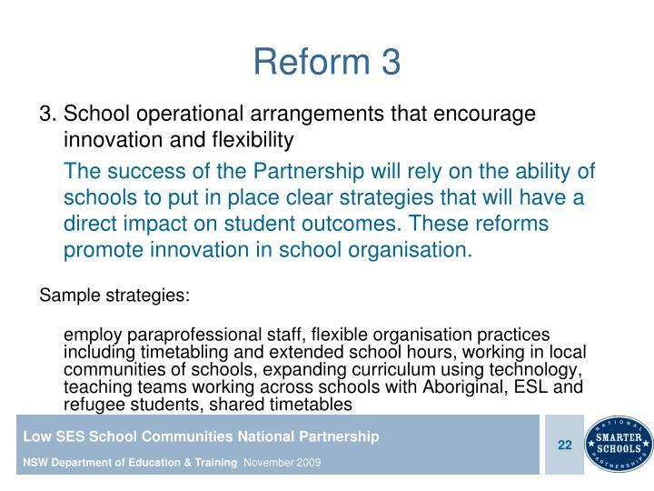 Reform 3