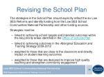 revising the school plan