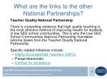 what are the links to the other national partnerships