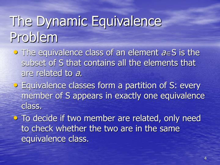 The Dynamic Equivalence Problem