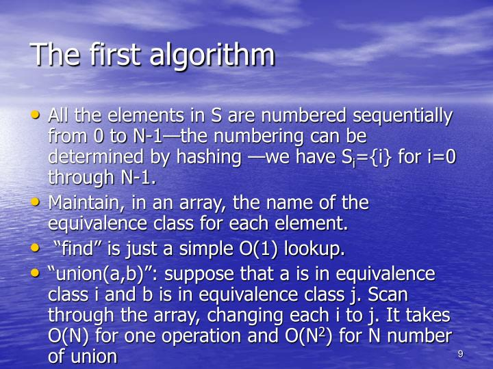 The first algorithm